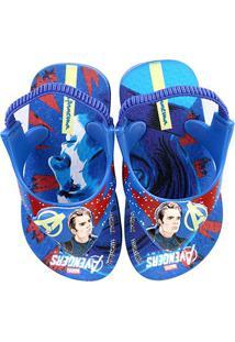 Chinelo Infantil Grendene Ipanema Avengers Baby - Masculino-Azul+Vermelho