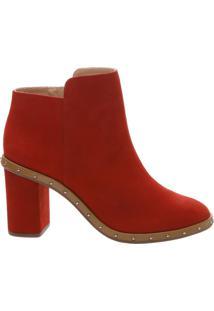 Ankle Boot Studs Nobuck Red | Schutz