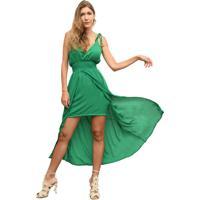 c149445b3 Vestido Chiffon Verde feminino
