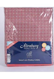 Lençol Avulso Casal Altenburg All Design Vermelho