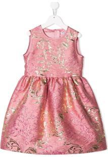 Dolce & Gabbana Kids Vestido Jacquard - Rosa