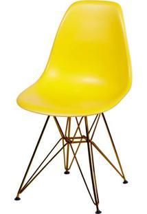 Cadeira Eames Polipropileno Amarela Base Cobre - 45970 - Sun House