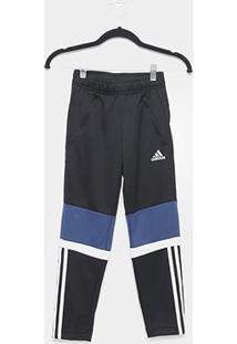 Calça Infantil Adidas Equip Knit Masculina - Masculino-Preto