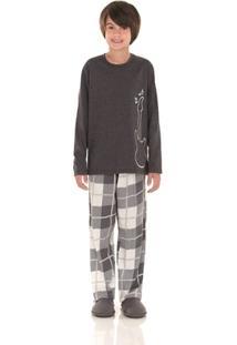 Pijama Longo Infantil Inspirate Family Chess - Masculino