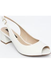 Peep Toe Chanel - Off White - Salto: 5Cmjorge Bischoff