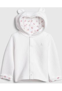 Casaco Gap Infantil Texturizado Branca