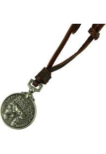 Colar Decovian Medalhão Prata