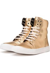 Tênis Sneaker K3 Fitness Style Dourado