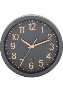 Relógio De Parede- Cinza & Rose Gold- Ø35X5,5Cm-Mart