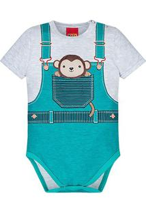 Body Infantil Kyly Cotton Macaquinho Bebê - Masculino-Off White