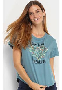 Camiseta Sommer Cape Town Wealth Feminina - Feminino-Verde