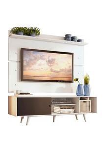Rack Madesa Dubai E Painel Para Tv Até 65 Polegadas Com Pés Branco/Preto 7309 Preto