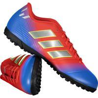 647b96a098718 Chuteira Adidas Nemeziz Messi 18.4 Tf Society Vermelha