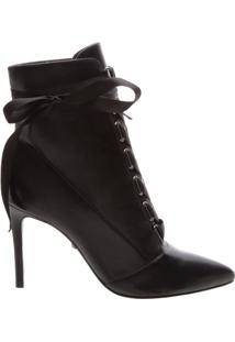 Pré Venda Ankle Bootie Lace Up Black | Schutz