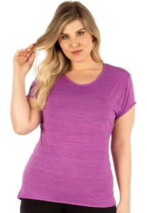 Camiseta Plus Baby Look Roxo | 553.822P