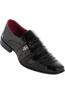 Sapato Social Envernizado Preto
