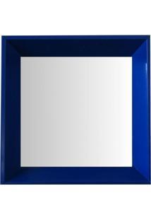 Espelho Moldura Madeira Lisa Fundo 16331 Azul Art Shop