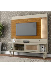 Estante Para Home Theater E Tv Até 46 Polegadas Luminos Off White E Cumarú