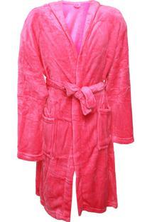 Roupão Infantil Lepper Color Quimono Com Capuz Pink