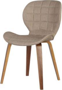 Cadeira Lucia Tecido Linho Cor Marrom - 31688 - Sun House