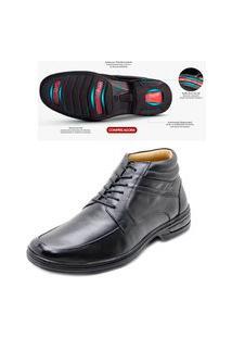 Bota Sapato Social Masculina Duo Confort Rafarillo Couro Preto