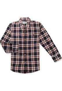 Camisa Mini Pf Ft Xadrez Preciso Reserva Mini Pret