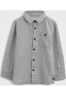 Camisa Milon Infantil Poá Cinza