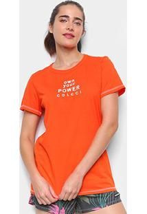Camiseta Colcci Own Your Power Feminina - Feminino-Laranja
