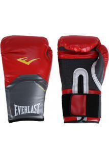 Luvas De Boxe Everlast Pro Style - 16 Oz - Adulto - Vermelho/Branco