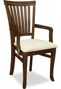 Cadeira Com Braço Rústica Inglaterra-Mappin - Canela