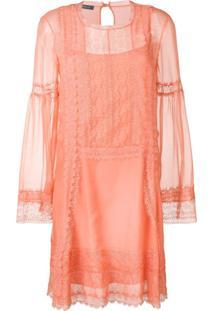 Alberta Ferretti Lace Inserts Dress - Rosa