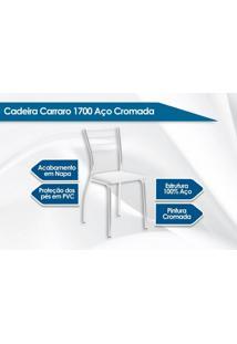 Cadeira Carraro 1700 Aço Cromada (2 Unidades) Cromada/Camurça Conhaque