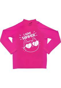 Camiseta Lycra Praia Comfy Summer Rosa