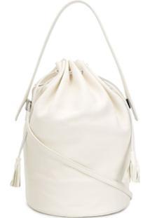 Jil Sander Drawstring Bucket Bag - Branco