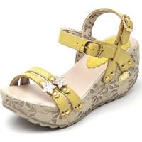 1a94bede0f Sandalia Top Franca Shoes Betina Beker Plataforma Anabela Feminina -  Feminino-Amarelo