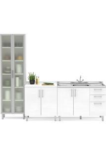 Cozinha Compacta Com 3 Peças Floripa 29-Politorno - Branco