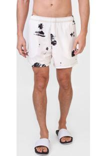 Bermuda ÁGua Osklen Reta Tropical Off-White - Off White - Masculino - Poliã©Ster - Dafiti