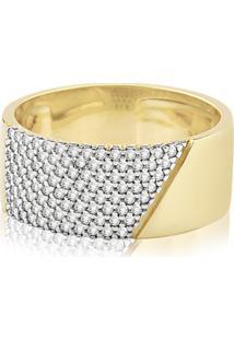Anel Ouro Amarelo E Diamantes