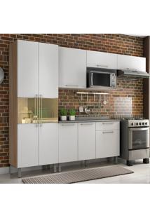 Cozinha Compacta Star Com Tampo 8 Pt 1 Gv Aveiro E Branca