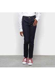Calça Jeans Infantil Colcci Fun Básica Cintura Média Feminina - Feminino