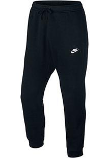 Calça Nike Nsw Jggr Club Flc Masculina - Masculino-Preto+Branco