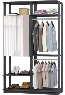 Closet Modulado Be Mobiliário Clothes 1 Armário Com Espelho