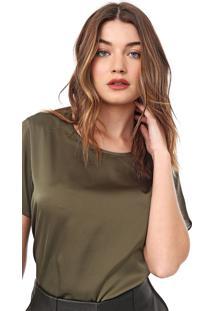 Camiseta Carmim Cetim Verde