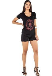 Camiseta Latifundio T-Shirt Queen Bee Feminina - Feminino-Preto