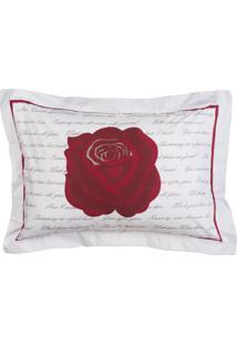 Porta Travesseiro Craft 1 Peça 200 Fios Algodão Rosas