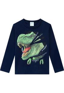 Camiseta Pijama Infantil Masculina Marinho