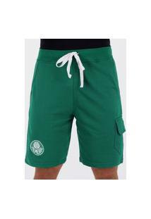 Bermuda Moletom Palmeiras Escudo Verde