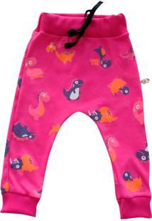 Calça De Bebê Milkfun Saruel Dino Pink - Tricae