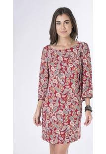 Vestido Mercatto Tecido Estampado - Feminino