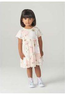 Vestido Infantil Menina Em Viscose Toddler Rosa